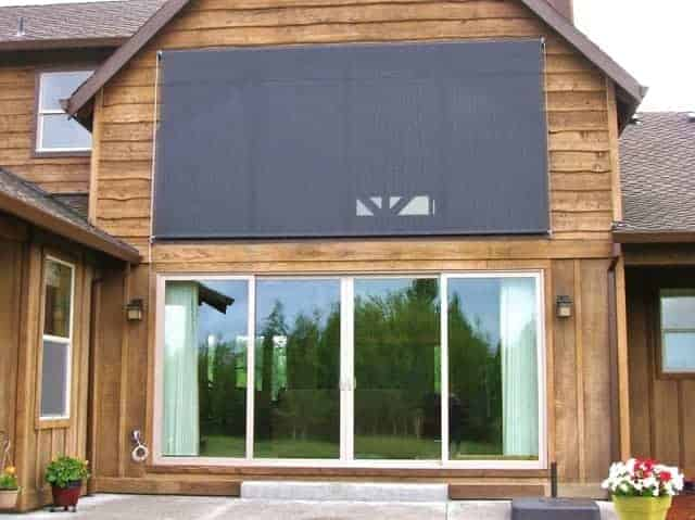 exterior retractable window screen