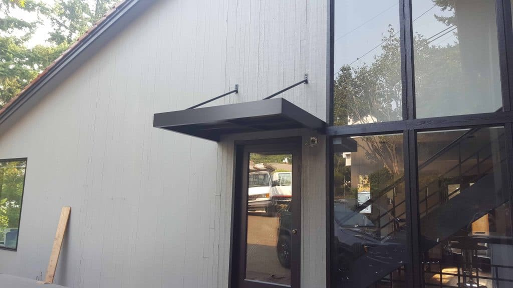 metal hanger rod awning