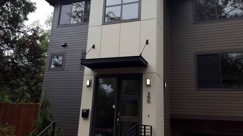residential metal door awning