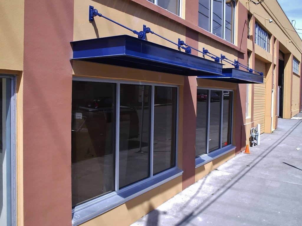 Metal Blue Awning