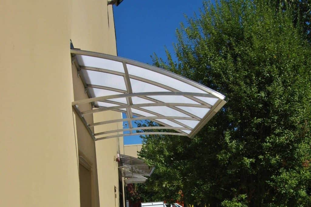 Curved Backlit Awning