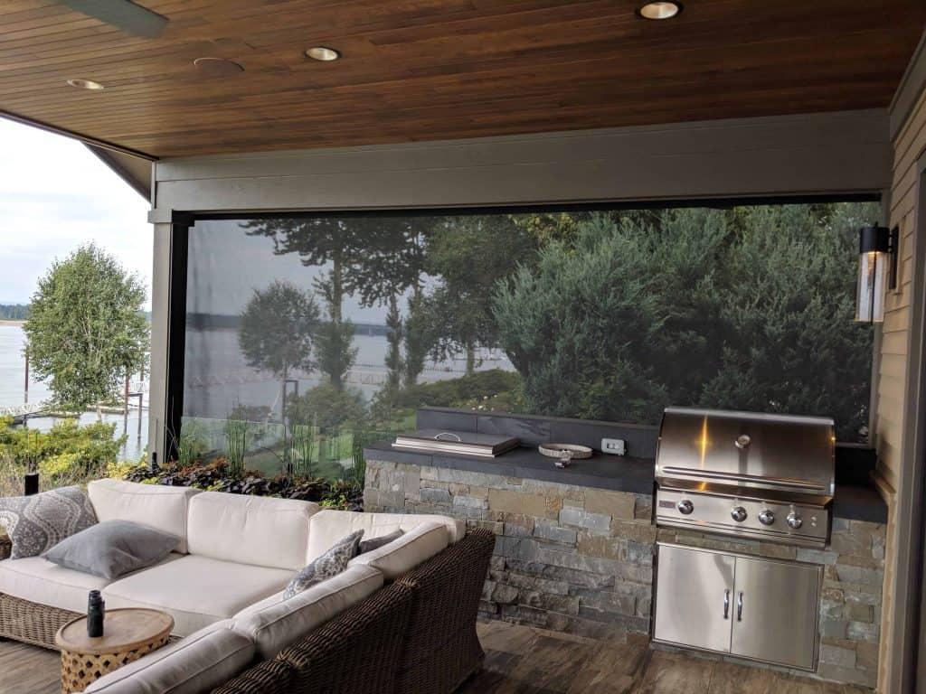motorized exterior screen