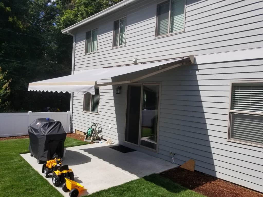 motorized awning