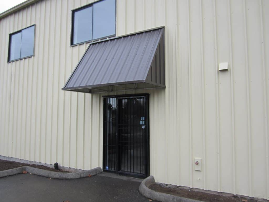 sloped roof metal awning