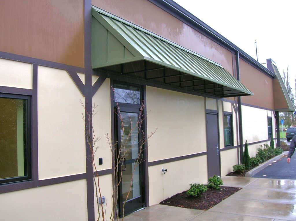 Sheet Metal Door Awning