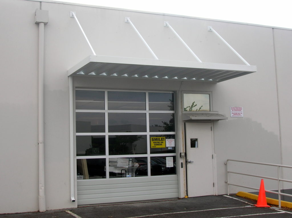 Metal loading dock canopy
