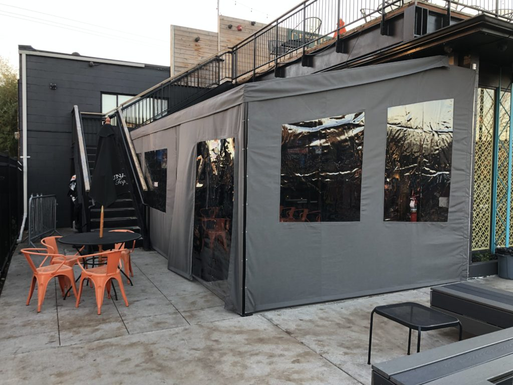 restaurant enclosure