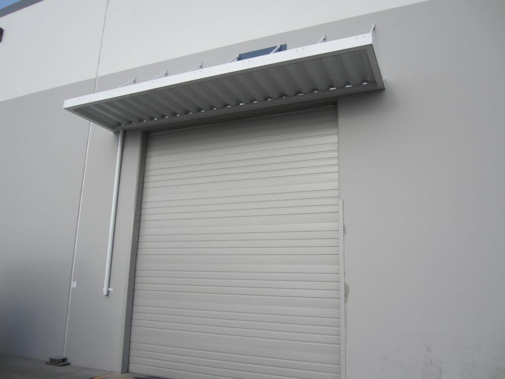 aluminum loading dock canopy