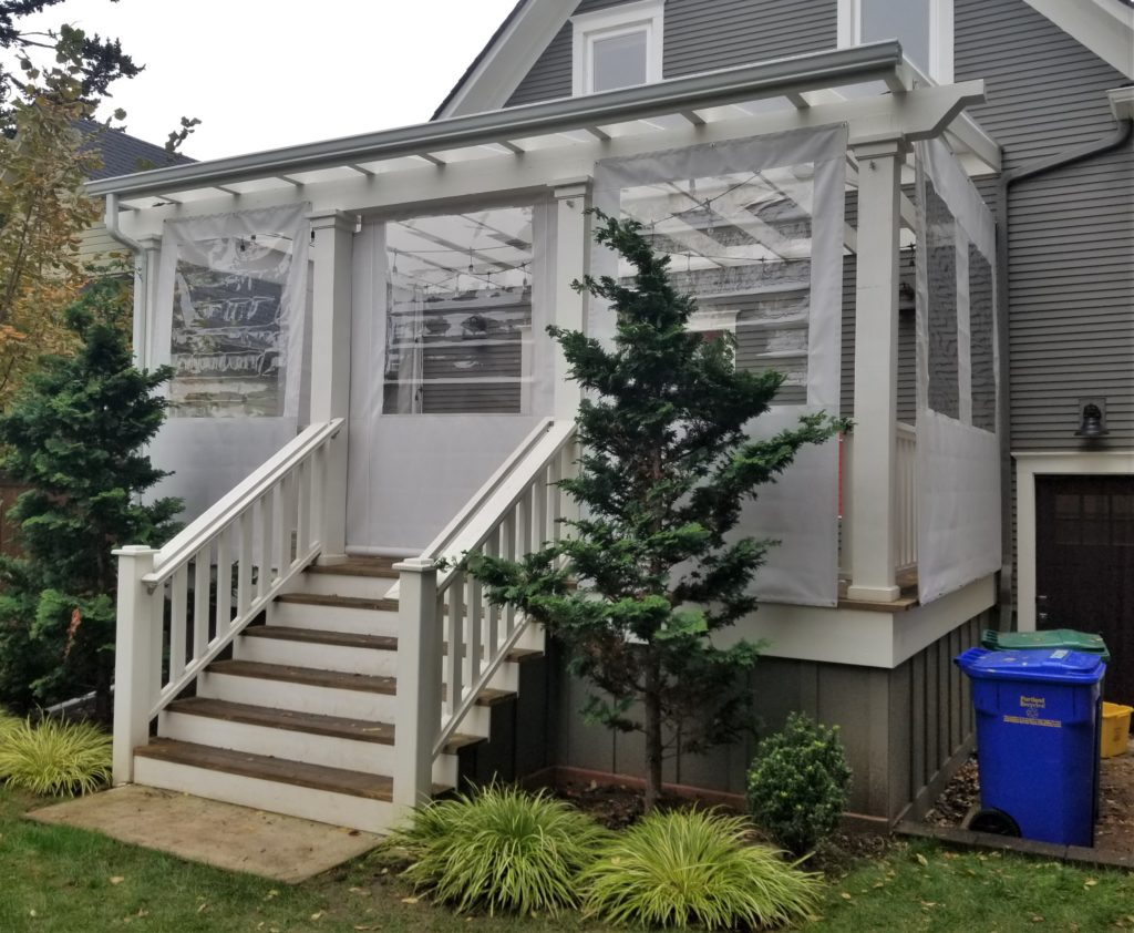 residential patio enclosure with windows
